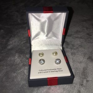 NEW!!! 2 Pairs of Earrings Peral & Sterling Silver